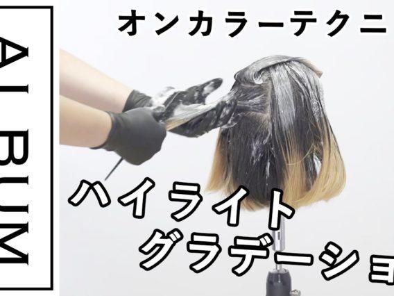 【ALBUMパーフェクトガイド】ハイライトグラデーション〜オンカラーテクニック〜(桑原)